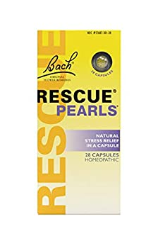 Bach RESCUE PEARLS Natural Orange Vanilla Flavor Natural Stress Relief Homeopathic Flower Remedy Quick-Dissolve Gluten and Sugar-Free 28 Count