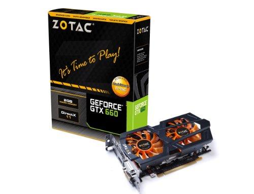 Zotac - Tarjeta gráfica nVIDIA GTX 660 (PCI-E, 1 GPU, 2 GB, Memoria GDDR5, 2 Puertos DVI, HDMI, DisplayPort)