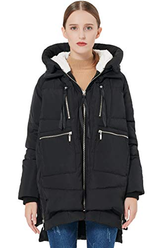 Orolay Women's Thickened Down Jacket Black XL