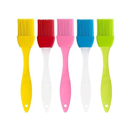 Silikonpinsel Grillpinsel Backpinsel Grillen Backwaren, Lebensmittelbürstenöl pflegeleicht hochtemperaturbeständig umweltfreundliche Materialien Küchengeräte, 5 Ölbürsten
