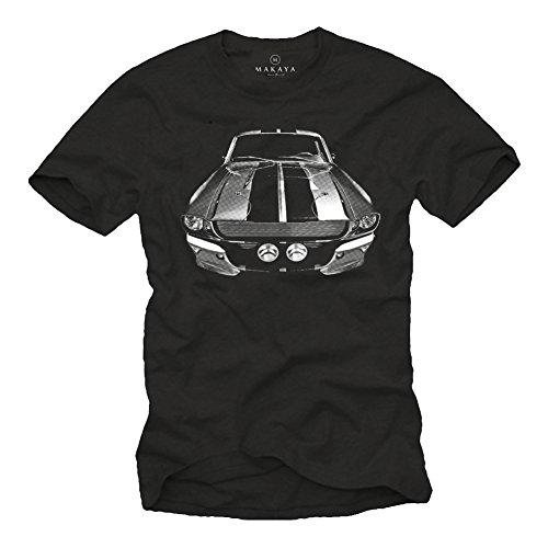 MAKAYA Herren T-Shirt für Muscle Car Fans 68er Mustang Eleanor schwarz L