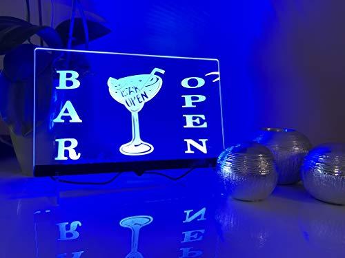Zhengdian Electronic Plaque Lumineuse à LED avec Inscription « Bar Open », pour Magasin, Bar, café, boîte de Nuit, publicité