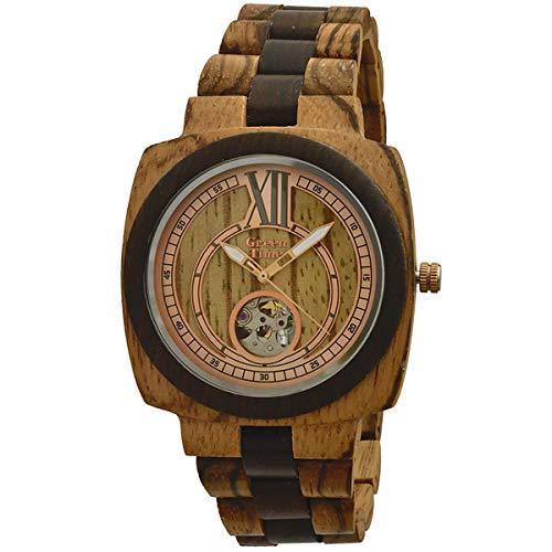 Orologio uomo in legno Green Time by Zzero Automatico ZW071A