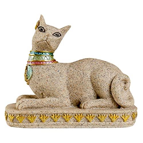 Gazechimp Escultura de Gato de Egipto, Adorno Decorativo, estatuilla, Estatua Realista, estatuilla, Sala de Estar, Dormitorio, decoración