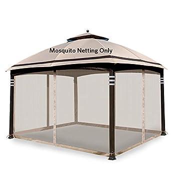 Hofzelt Gazebo Replacement Mosquito Netting Screen Walls for 10  x 10  Gazebo Canopy  Mosquito Net Only  Beige