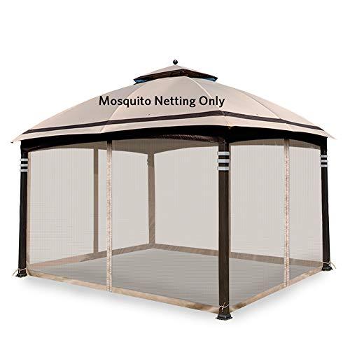 Hofzelt Gazebo Replacement Mosquito Netting Screen Walls for 10' x 10' Gazebo Canopy (Mosquito Net Only) Beige