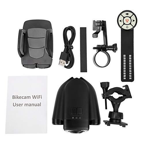 NEUFDAY Neufdayyy Fahrradkamera, Fahrrad Radfahren Wasserdichter Kamera-Rekorder-Warnlicht-Kit 16 GB TF-Karte