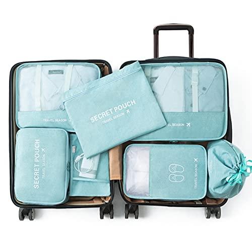 Wmeat-P Organizadores Embalaje Viaje,cosméticos Ropa Interior Zapatos Embalaje Conjunto,para Ropa,Zapatos,Ropa Interior,cosméticos,Libros