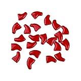 FEIDAjdzf 20 Unidades de Tapas de uñas para Gato, de plástico Suave, Colorido, con Pegamento, plástico, Rojo, XS