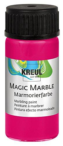 Kreul 73233 - Magic Marble Marmorierfarbe, 20 ml Glas in neonpink, farbbrillante Tauchmarmorierfarbe für zufällige Musterungen und einzigartige Farbeffekte