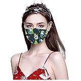 10/50 maschere di Natale per adulti, usa e getta, a 3 strati, per mescolare e regolare il viso, con stampa colorata, per bocca e naso
