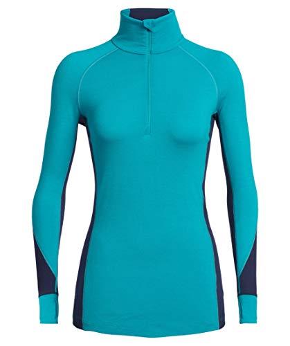 Icebreaker Damen Funktionsunterhemd Bodyfitzone 260 Zone Long Sleeve Half Zip türkis (405) XL