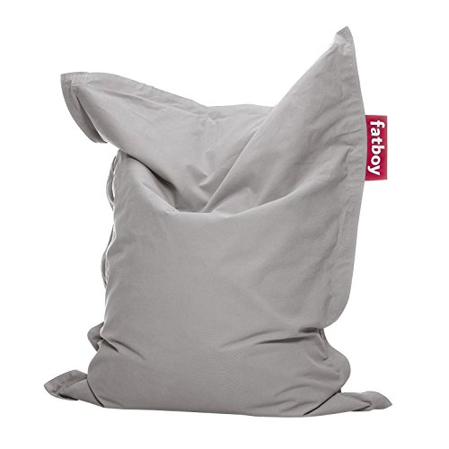 Fatboy® Junior Stonewashed lichtgrau | Original Baumwolle-Sitzsack | Klassisches Indoor Sitzkissen speziell für Kinder | 130 x 100 cm