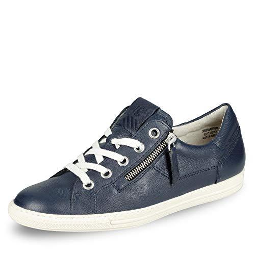 Paul Green 4940 046 Damen Sneaker aus Glattleder mit Lederinnenausstattung Uni, Groesse 36, blau