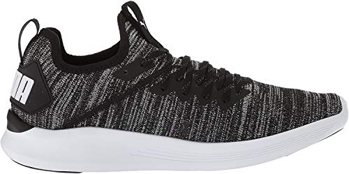 PUMA Men's Ignite Flash Evoknit Sneaker black-asphalt-white 10 M US