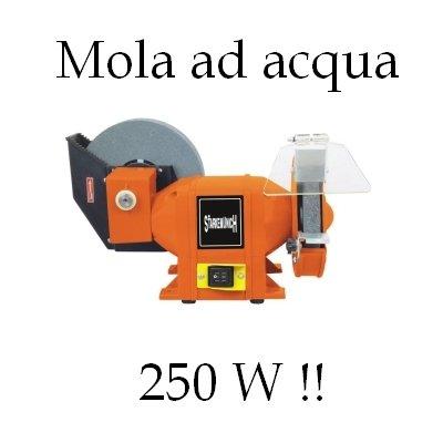 GrecoShop Mola/Smerigliatrice Da Banco Mola Ad Acqua E Mola A Secco 150/200 Mm 250W