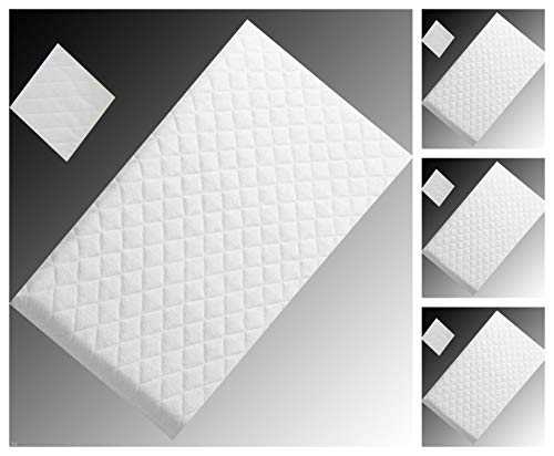 Baby Infant COT Swinging Crib Foam Mattress 89 x 38 x 4 cm Water-Resistant (Square Corners) Bluemoon