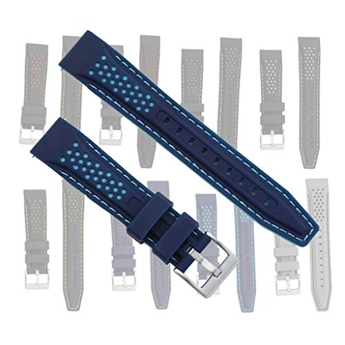 Silicone Rally Strap Watch Bands by BluShark Juliet Blue Watch Strap 20mm