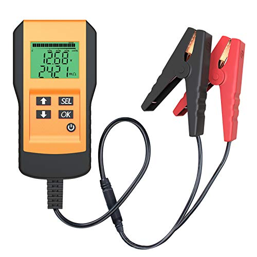 LST バッテリーチェッカー バッテリー診断機 バッテリーテスト 3年保証(CCA値/内部抵抗値mΩ/電圧)LEDデジ...