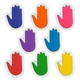 HUISEN&HosHo手形 水性スタンプ台 手形スタンプ インクパッド フィンガースタンプ お生産祝い 思い出を記録 無毒無害 DIY 特大サイズ 赤ちゃん 手形 足形 手帳 年賀状 オフェス 保育園 幼稚園 8色セット
