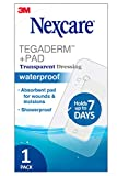 Nexcare Tegaderm Transparent Dressing w/ Pad, Surgical Grade The #1 Hospital Brand, Provides protection to minor burns, cuts, blisters and abrasions, 1 Ct, 6 In X 6 In