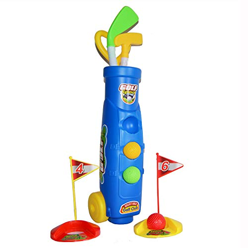Planet of Toys Golf Set for Kids | Mini Golf Set Children | Pretend Play Toys for Boys & Girls
