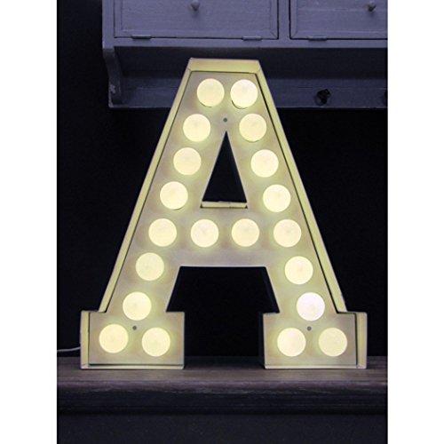 Seletti Vegaz Lettre en métal avec ampoules LED H cm 60 ‐ E, E27, blanc