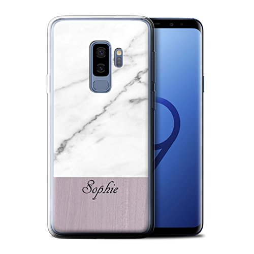 Stuff4 Phone Case/Cover/Skin/SG-GC/Custom Marble/Wood Collection Samsung Galaxy S9 Plus/G965 Graniet/hout.