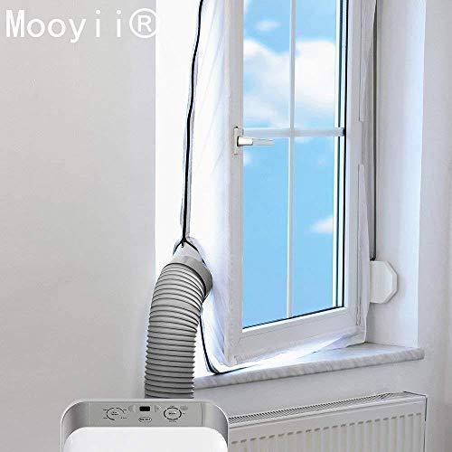 Fensterabdichtung Vorhang hot air stop f mobile Klimageräte für Abluftschlauch, AirLock 100 Fensterabdichtung für Klimageräte und Ablufttrockner Hot Air Stop Window-Seal airlock HT800