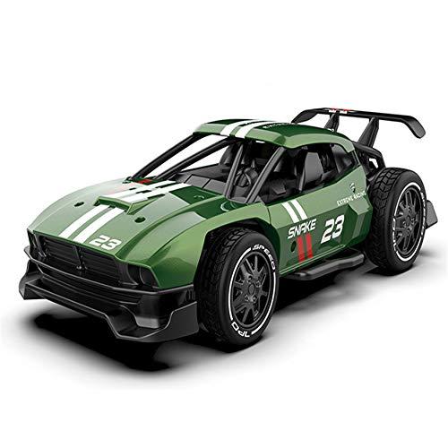 Kun-ting Carro de Control Remoto, Coche teledirigido de 2.4GHz, Carcasa metálica, relación de simulación 1:24, Coche teledirigido para niños / Adultos, Modelo: SL-216A (Ejercito Verde)