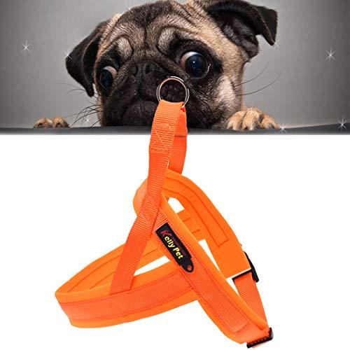 LEIXIN huisdierspeelgoed van nylon O-ring comfortabel A7 chest harness hondenriem/grootte: L, verstelbaar gamma: 68-84 cm (zwart)