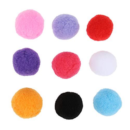 UEETEK Pompones de Colores Variados para Manualidad Round Pompon Ball Bola Fieltro 50pcs 4cm (Color de la Mezcla)