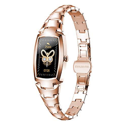 Reloj Inteligente De Moda Reloj Inteligente Con Toque Completo Monitor De Presión Arterial Para Mujer Modos Multideportivos Pulsera De Fitness Para Dama VS KW10 NY12, Fácil De Usar(Color:Oro rosa)