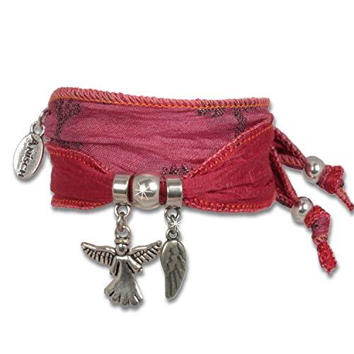Anisch de la Cara - Donne Braccialetto - Coral Pink - Wings of Hope Braccialetto di Protezione Indiana di Saris - Articolo n 2230-c