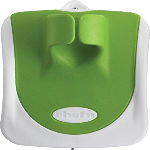 Chef\'n Gemüseschäler PalmPeeler, hochwertiger Schäler mit Edelstahlklinge, moderner Handschäler für verschiedene Anlässe (Farbe: Grün, Orange, Lila - nicht frei wählbar), Menge: 1 Stück