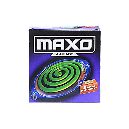 NIK Maxo A-Grade Mosquito Coil 8 Hours Protection 10 Coils in Each pack, PACK OF (6)