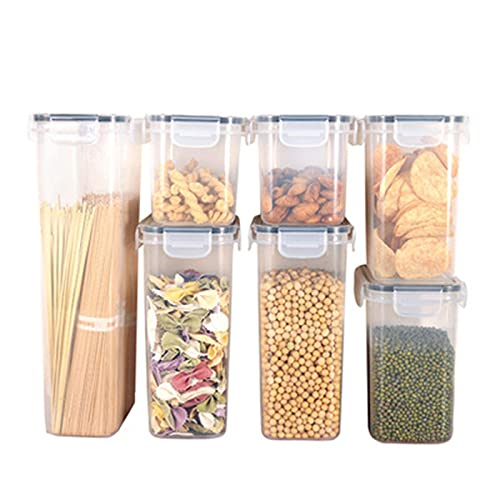 MDZZ Recipientes de Almacenamiento de Cereales Botes Cocina Alimentos Se Mantiene Fresco Almacenar Cereales, Avena, Pasta, Galletas, Etc almacenaje Vidrio Cocina
