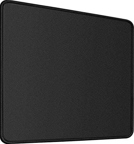 Mouse Pad,Upgraded Mouse Pad with Durable Stitched Edge,Mouse Pads 11.8'x9.8'x0.12' 30% Larger Big Gaming Black Mouse pad,Non-Slip Rubber Base Waterproof Mouse Pad Laptop,Computer, Office,Home, Black