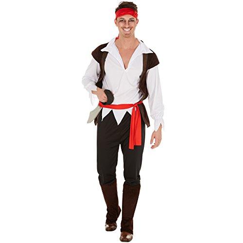 TecTake dressforfun Disfraz de Capitán Pirata para Hombre | Incl ...