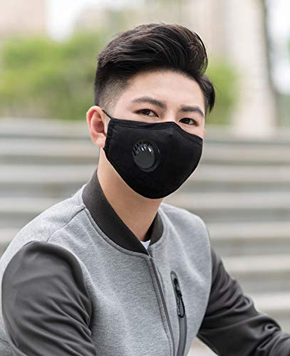 Global King Fashion Mask - 1 Piece Reusable and Washable with Filter - Black