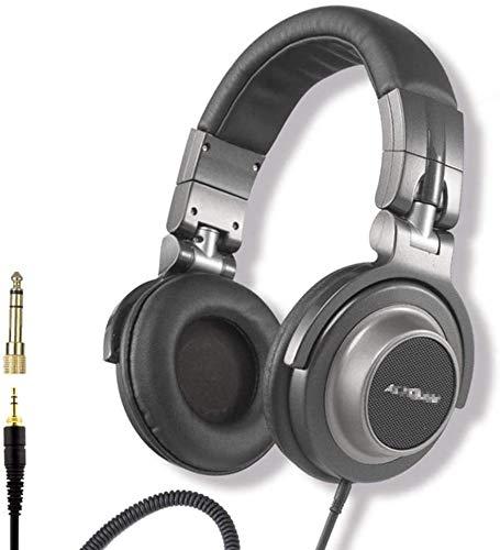 FHW Hoofdtelefoons, subwoofer hifi natuurlijke klinker professionele DJ-monitor headset bedrade stereo spel gaming headset (zwart) koptelefoon