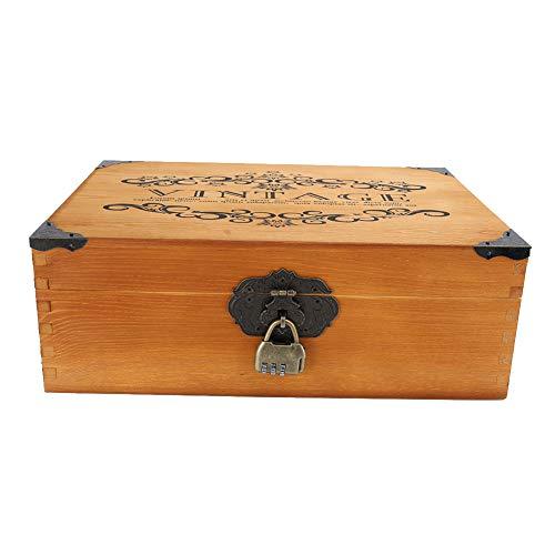 Caja de almacenamiento, Caja de almacenamiento de escritorio, Vintage para certificado de archivo de monedas cosméticas