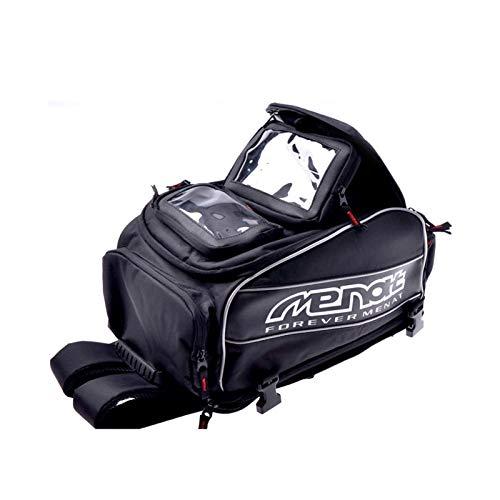 XYBH Xybhjxb Bolsa de la Motocicleta Mochila de la Motocicleta Impermeable Motocicleta Bolsa de Casco de Motocicleta Off-Road Motocicleta Travel Equipaje con imán (Color Name : Black)