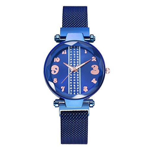 Fashion Damen Uhren Analog Quarz, Frauen Mode Einfache Uhren mit Edelstahl Mesh Armband Magnetband Ultradünne Damenuhr Mädchenuhr LEEDY