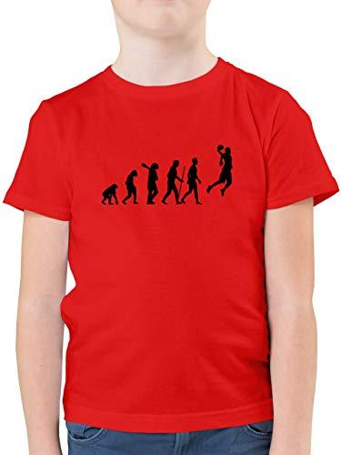 Evolution Kind - Basketball Evolution - 164 (14/15 Jahre) - Rot - Basketball Shirt Jungen - F130K - Kinder Tshirts und T-Shirt für Jungen