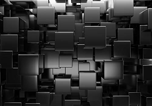 decomonkey Fototapete Abstrakt 350x256 cm XXL Design Tapete Fototapeten Tapeten Wandtapete moderne Wand Schlafzimmer Wohnzimmer 3d Effekt Optik Geometrisch