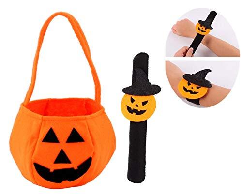 Bolsa de Dulces Halloween para Niños con Cordón Bolsa de Calabaza Bolso Divertido Halloween de Caramelo Galleta Regalo de Chocolate Halloween Suministros