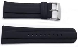 Genuine Swiss Army 20mm Officer's Black Rubber Watch Strap
