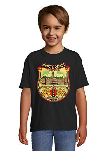 Desconocido Amsterdam Holland Royal Palace Retro Graphic La Camiseta del niño Small