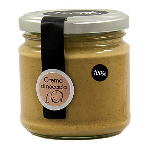 SCIARA - Crema 100% Nocciola. Crema di Nocciola naturale e genuina. Senza zucchero, senza lattosio, senza glutine. Pasta pura di nocciola. Da spalmare o per gelati e prodotti di pasticceria.